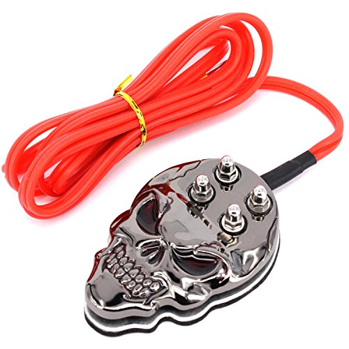WORMHOLE TATTOO Power Supply Switch Skull Tattoo Foot Pedal with Red Silicone Cord N1007-33C (Tungsten (Hurricanes Temporary Tattoos)
