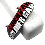 SOLDIER BAR Soldierbar 8.0 Wooden Fingerboards for Toys Which can Relax People (Red White Logo,Deck,Truck,Wheel 1 Set)