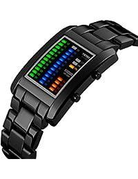 Men's Digital Watch Binary Time LED Display Waterproof...