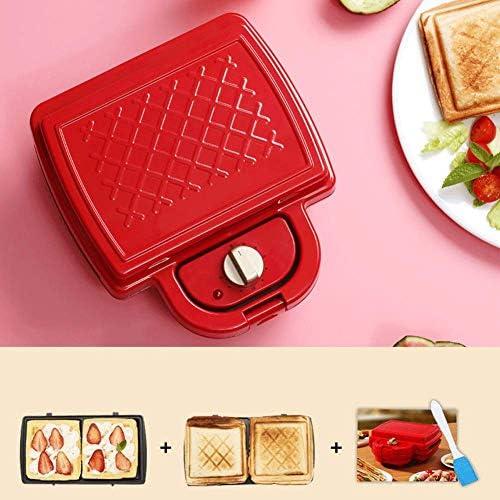 NAFE Grille-Pain Sandwich, Machine Toastie avec Panneau antiadhésif Amovible, Panneau Amovible Facile à Nettoyer, contrôle Automatique de la température, 220V 750W-2bakingtrays