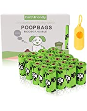 300 Plant-Based Poop Bags for Dogs,Dog Poop Bags Biodegradable,Dog Waste Bags Refill Rolls,100% Compostable Pet Poop Bags,Unscented, Leak Proof, Eco-Friendly Material, Green,and a free dispenser