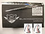 10 Kg Bulk Lounge Box 720 Large Cubes Black Diamond Natural Coconut Hookah Coals With Bonus Ed Hardy 12 Inch Long Starbuzz Charcoal Tongs And Shisha Shaped Car Air Freshener