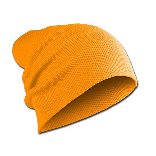 Long Mujeres Long Slouch agresiva Unisex Jersey Mente Neon Hombres Beanie Orange Uv6qx4xw