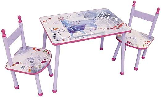 Fun House 713187 Disney Frozen - Conjunto de Mesa con 2 sillas para niños, 2 años: Amazon.es: Juguetes y juegos