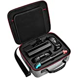 Nintendo Switch Case-Diocall Deluxe Protective Carry Case Fit Switch Accessories with Pro Controller-Grey