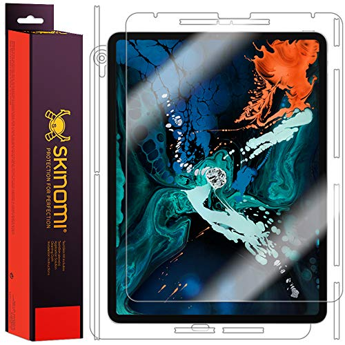 iPad Pro 12.9 Screen Protector + Full Body (2018), Skinomi TechSkin Full Coverage Skin + Screen Protector for iPad Pro 12.9 Front & Back Clear HD Film