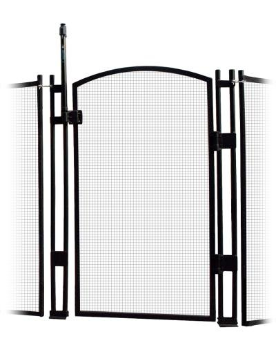 VisiGuard Self-Closing/Latching Pool Fence Child Safety Gate 4' Tall (Black)