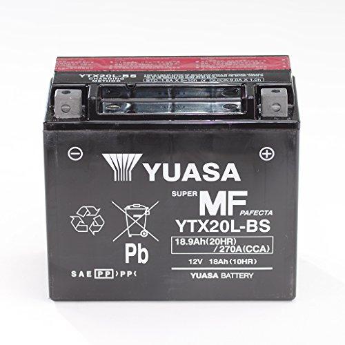 Yuasa, batteria da 12V, 18Ah, YTX20L-BS esente da manutenzione, 51891 Outlander XT 2/4WD S3T Thunderbolt EB1CF, per Moto Terralander