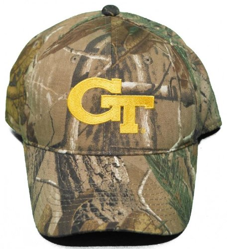 Football Signature Jacket - NCAA Signatures NEW! Georgia Tech University Yellow Jackets Buckle Back Hat Embroidered Camo Cap