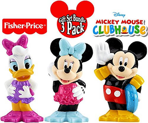 Fisher-Price Disney Mickey Mouse Clubhouse Bath Squirters Mickey, Minnie & Daisy Gift Set Bundle - 3 Pack (Bath Mickey Toys Mouse)