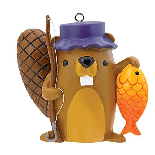 - Carlton Heirloom Ornament 2017 Fishing - Beaver with Fishing Pole - #CXOR068M