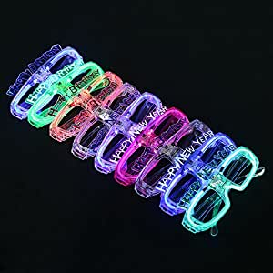 Amazon.com: 12 Pack LED Light Up Glasses - Happy New Year ...