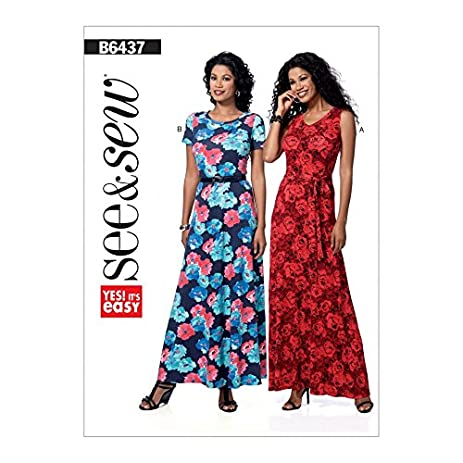 Amazon Butterick See Sew Ladies Easy Sewing Pattern 6437