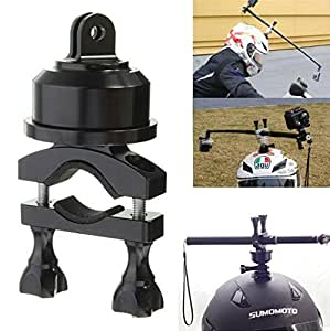 Hooshion® Extendable Professional Black Aluminum 360 Degree Swivel Rotating Helmet Self Mount Adapter For Gopro Hero 3 3+ 4 Camera