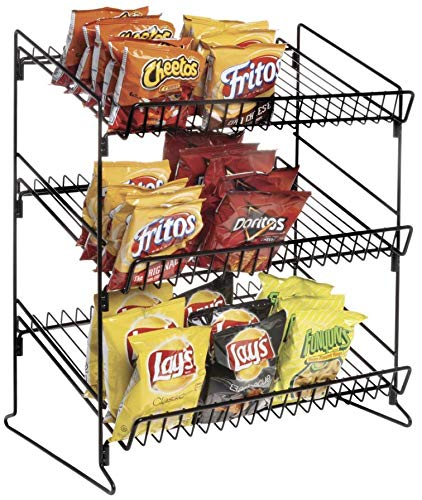 3 Tier Display Stand Black Metal by Retail Resource