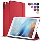 iPad Mini 4 Case, ROARTZ Red Slim Fit Case Cover with Auto Wake/Sleep Feature for Apple New iPad Mini 4 Retina Display 2015 model