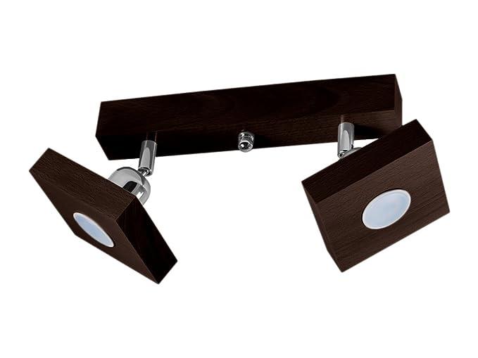 Plafoniera spot a soffitto led illuminazione a soffitto in legno
