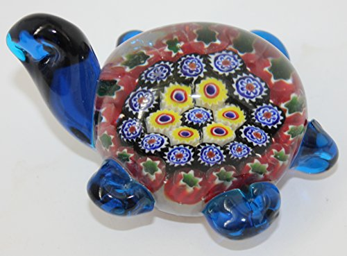 (Murano Design Glass Art Multicolor Turtle Paperweight 4