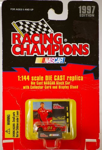 Racing Champions NASCAR BILL ELLIOTT 1:144 scale DIE CAST Replica with Collector Card and Display Stand