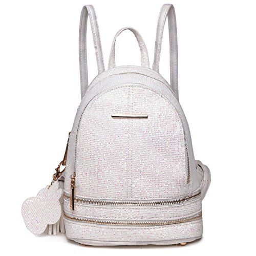 PU Miss 1763 Lulu Shoulder Leather Bag Backpack Rucksack Ladies Beige Fashion xw7awS4