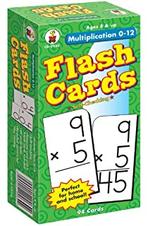Amazon.com: Trend Enterprises Multiplication 0-12 Flash Cards (All ...