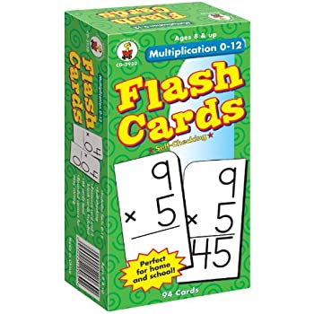 Amazon.com: Multiplication 0-12 Flash Cards, Grades 3 - 5: Carson ...