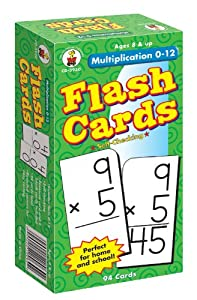 Amazon.com: Multiplication 0-12 Flash Cards, Grades 3 - 5: Carson ...