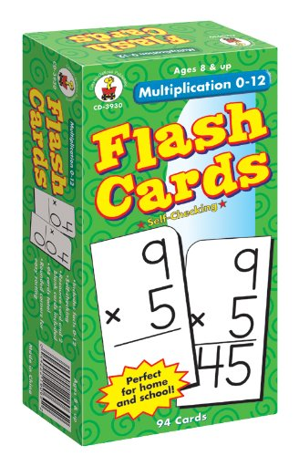 Worksheets Flashcards Of Multiplication amazon com multiplication 0 12 flash cards grades 3 5 carson 5