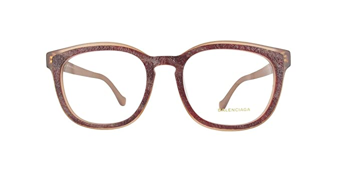 Balenciaga Brillegestelle BA5032F-065-53, Monturas de Gafas para Mujer, Rojo (