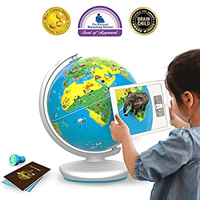 Shifu Orboot (App Based): Augmented Reality Interactive Globe for Kids, Stem Toy for Boys & Girls Age 4 to 10 Years