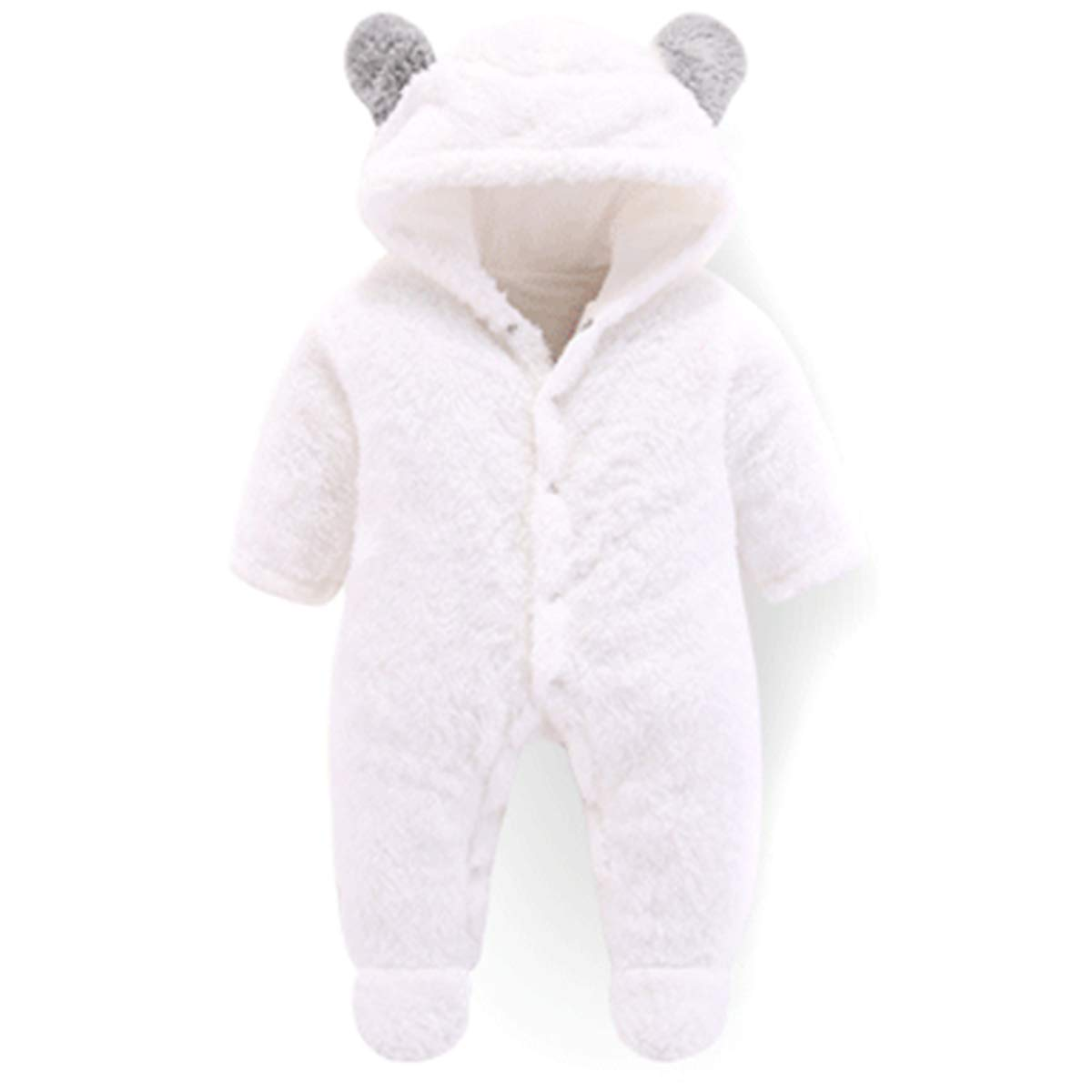 Traje de Nieve c/álido para beb/é Oso Mono de Mameluco con Capucha de Felpa de algod/ón para ni/ñas ni/ño Haokaini