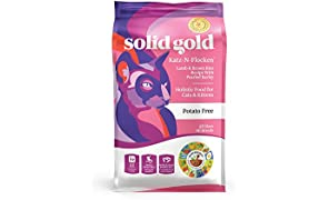 Solid Gold - Katz-N-Flocken with Real Lamb & Brown Rice - Whole Grain Holistic Dry Cat Food for All Life Stages - 12lb Bag