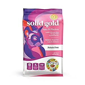 Solid Gold - Katz-N-Flocken with Real Natural Lamb and Brown Rice - Holistic -Whole Grain - Dry Cat Food for All Life Stages 7