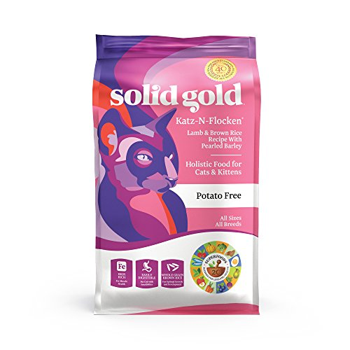 Solid Gold - Katz-N-Flocken - Holistic Whole Grain Dry Cat Food with Real Natural Lamb and Brown Rice - 4 lb