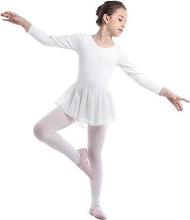 Agoky Maillot Ballet con Tutú para Niña Vestido de Danza Clásica ...