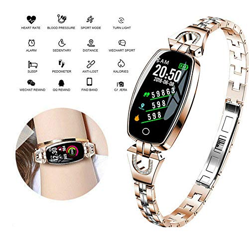 Charm Fitness Tracker for Women, Activity Tracker Watch with Heart Rate Blood Pressure Monitor, IP67 Waterproof Jewelry…