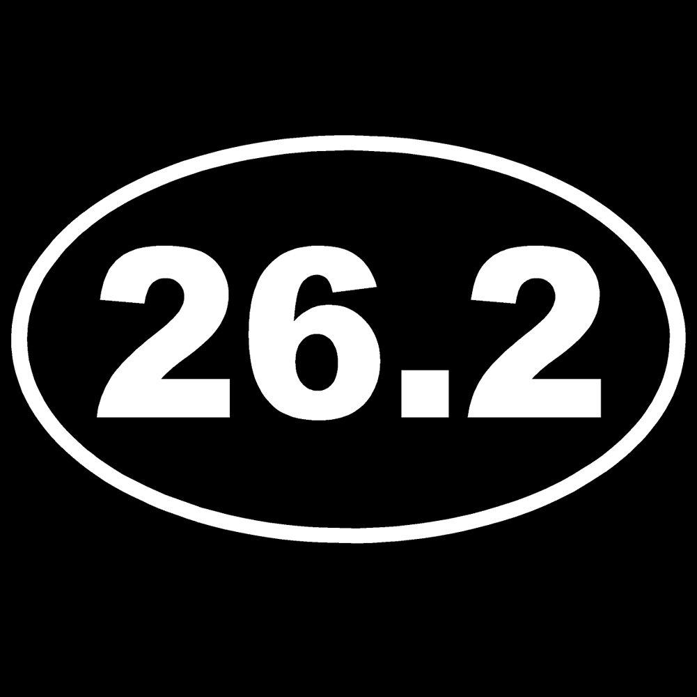 26.2 Full Marathon Running楕円形OL ( 2パック)ビニールデカールby stickerdad – サイズ: 3.5インチ、色:ホワイト – Windows、壁、バンパー、ノートパソコン、ロッカー、など。   B07656JVWK