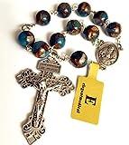 elegantmedical Football Stone Bead Catholic