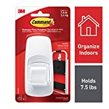 Command 17004 Jumbo Plastic Hook with Adhesive Strips, 1 Hook 4 Strips