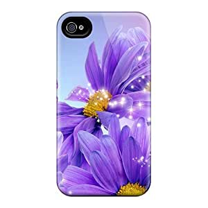 Snap-on Case Designed For Iphone 4/4s- Purple Daisy Picture