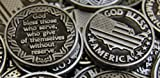 CourageInStone.com Set of 10 God Bless Armed Forces Pocket Token Coins
