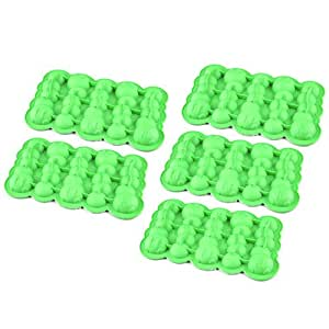 Riverbyland Caterpillar Shape Silicone Ice Cube Trays 5 cubes Set of 5
