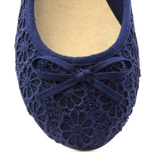 Floral Blue Ballerina Crochet Navy Lilley Womens qEvw8x6xf