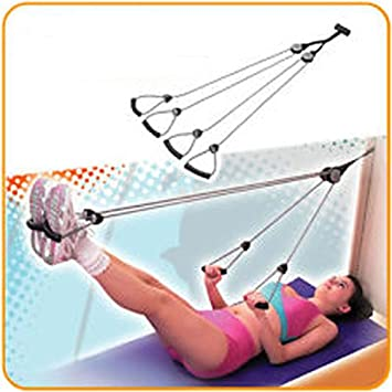 HemingWeigh Door Mounted Exercise Pulley Rope, Multi Use Arm, Shoulder,  Abdomin,