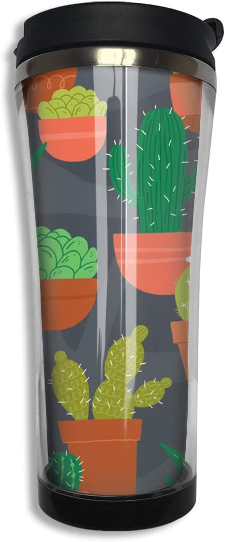 Gothic Cactus Double Walled Cup /& Lid /& Straw Drinks MUG BIRTHDAY PRESENT GIFT
