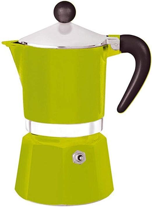 DNCST Cafetera Italiana Moka Pot Hogar Utensilios de café Mocha Cafetera Espresso Coffee Pot Hecho en casa Café Mocha Pot Utensilios (Color : Verde, tamaño : 3 Cup): Amazon.es: Hogar