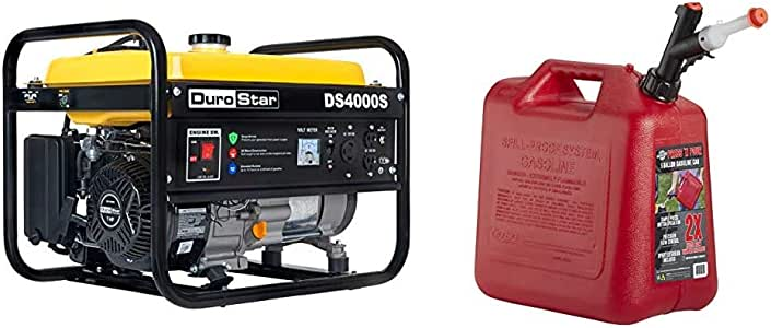 Amazon.com : DuroStar DS4000S 4000 Watt Portable Recoil ...