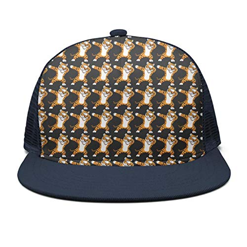 0c62e17c37edd Wlpjsjkd Dabbing Tiger Funny Dab Animals Flat mesh Casual Life Snapback Hats