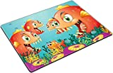 MSD Place Mat Non-Slip Natural Rubber Desk Pads Design 19645385 Illustration of a School of Piranha Under The sea