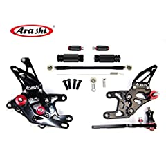 *****Welcome To Arashi Official Store*****  Arashi Adjustable RearsetsFeature:  - Made from billet 6061-T6 Aircraft grade Aluminum for superior strength, and you never have to worry about them breaking or being strong enough to take to the t...